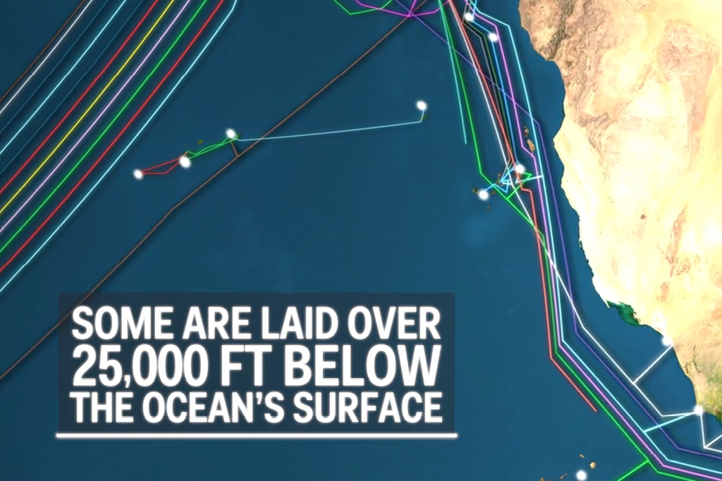 The cable hidden under the ocean that power the internet